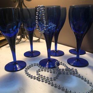Vintage Cobalt Blue wine glasses